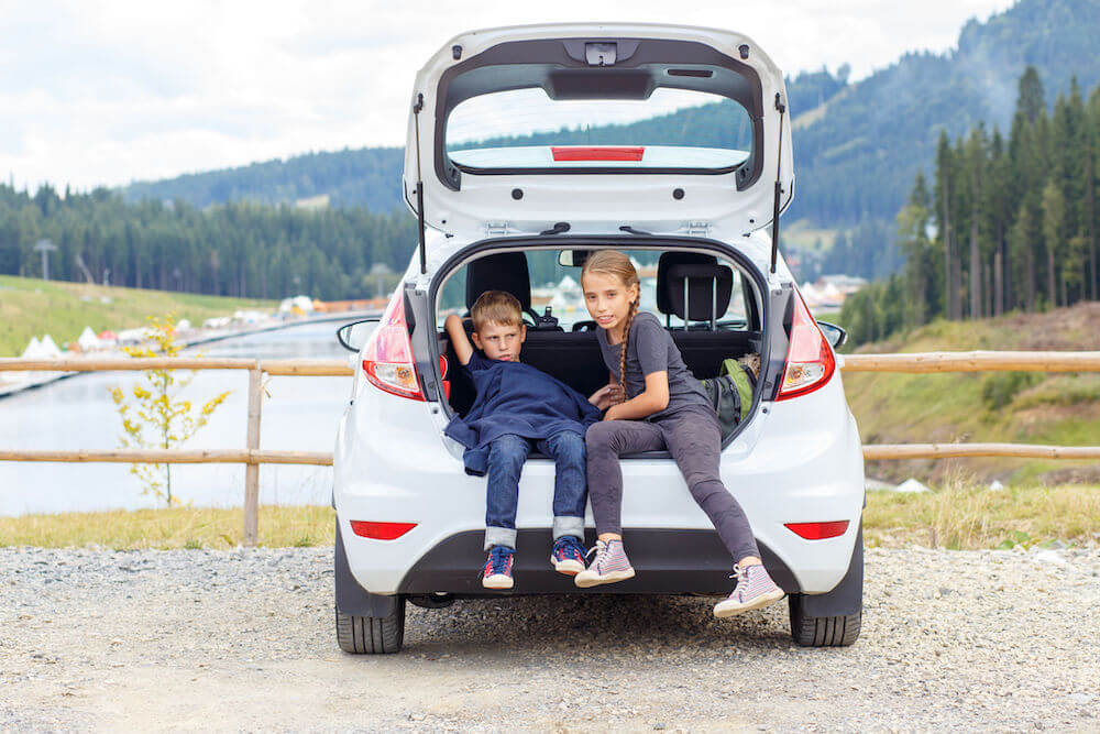If you are going on a road trip with kids bring a folding kick scooter along