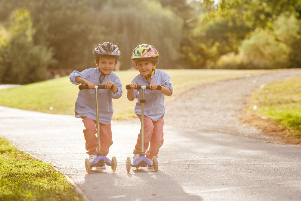 Approved bike helmets are are the best scooter helmets for kids who are learning and scootering at low speeds