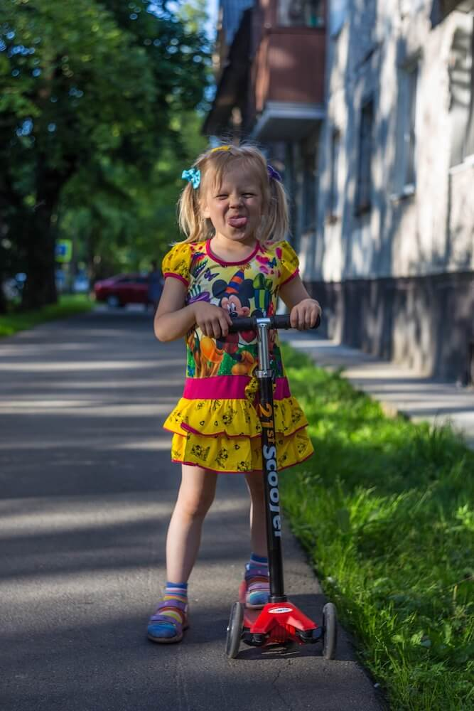 riding scooters for kids is good for their health