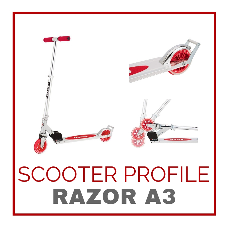 The Razor A3 Scooter at a glance